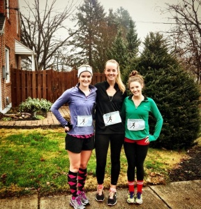 Me and my friends Cassie and Madeline doing our Race for Recovery 5-K
