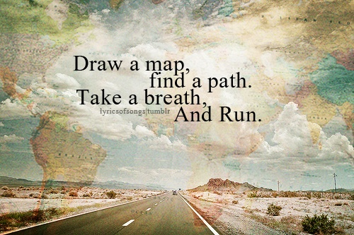 draw a map and run