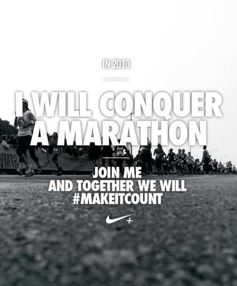 I will conquer a marathon