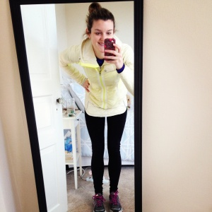 Running in the cold isn't too bad when you have a cute outfit!