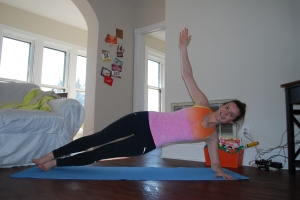 Side plank with raised arm