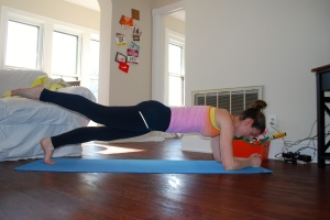 Alternating leg planks.