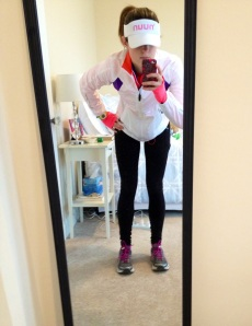 Pre-rainy long run selfie!