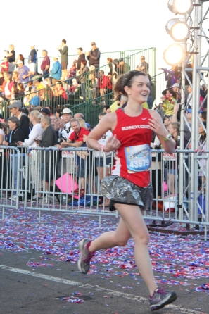 Finishing the Disney Half-Marathon with a 17-minute PR.
