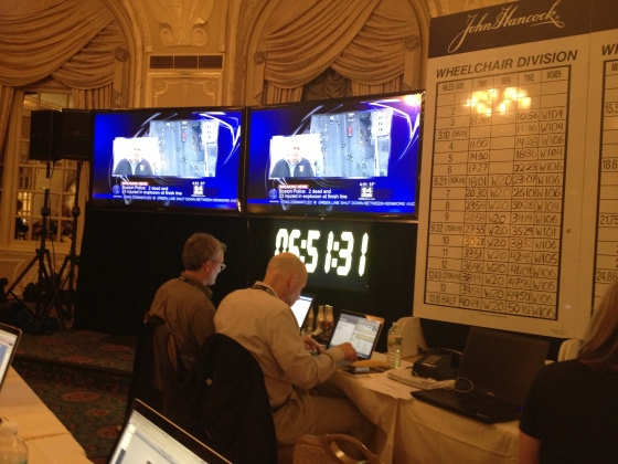 From inside the press room on lockdown, the race clock never stopped running.