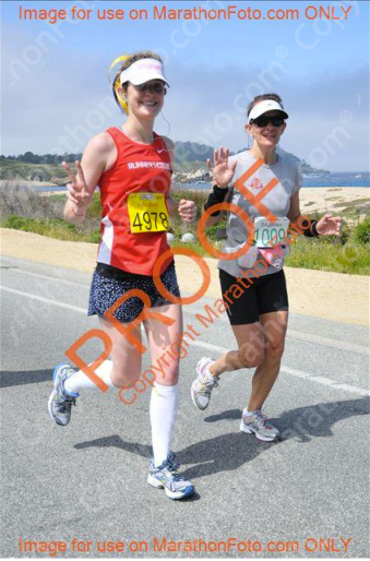 A shot of Sabrina and me nearing the finish.