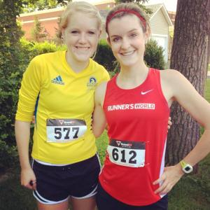My own personal pacer, Megan, and me postrace.