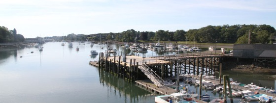My view of the harbor for most of my run. (Source: visitmaine.net)
