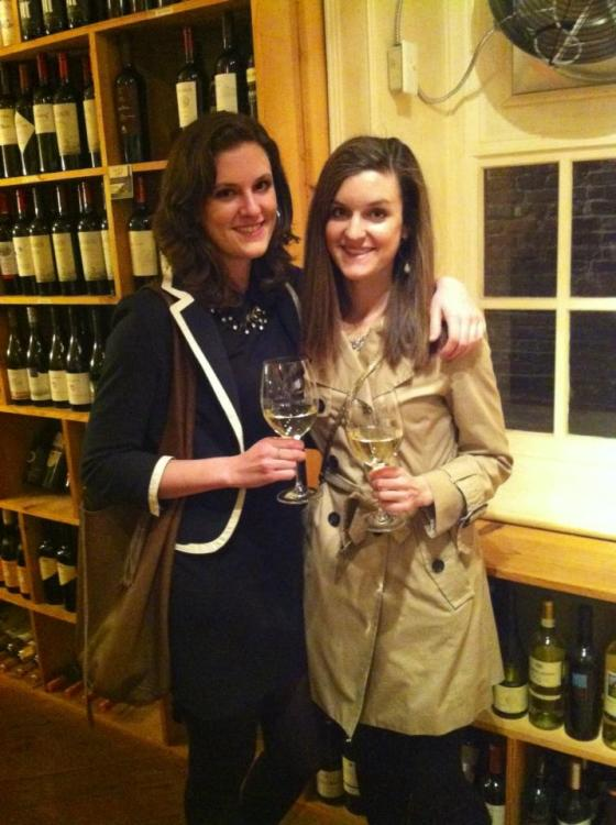 Georgia and myself at a super cool wine store.