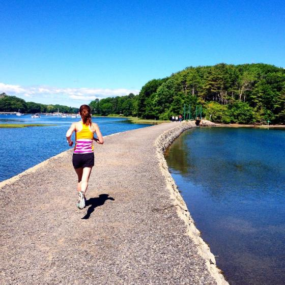 Photo from running in York Harbor, Maine with Adam. (Photo credit: Adam K.)