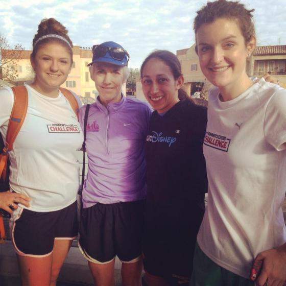 From the 2013 Walt Disney World Marathon with Desi Davila, Joan Benoit Samuelson, and my friend Beachy.