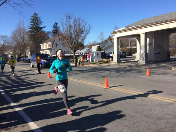 Photo from Shalane Flanagan's Back the Track 5K where I ran another 23:02.